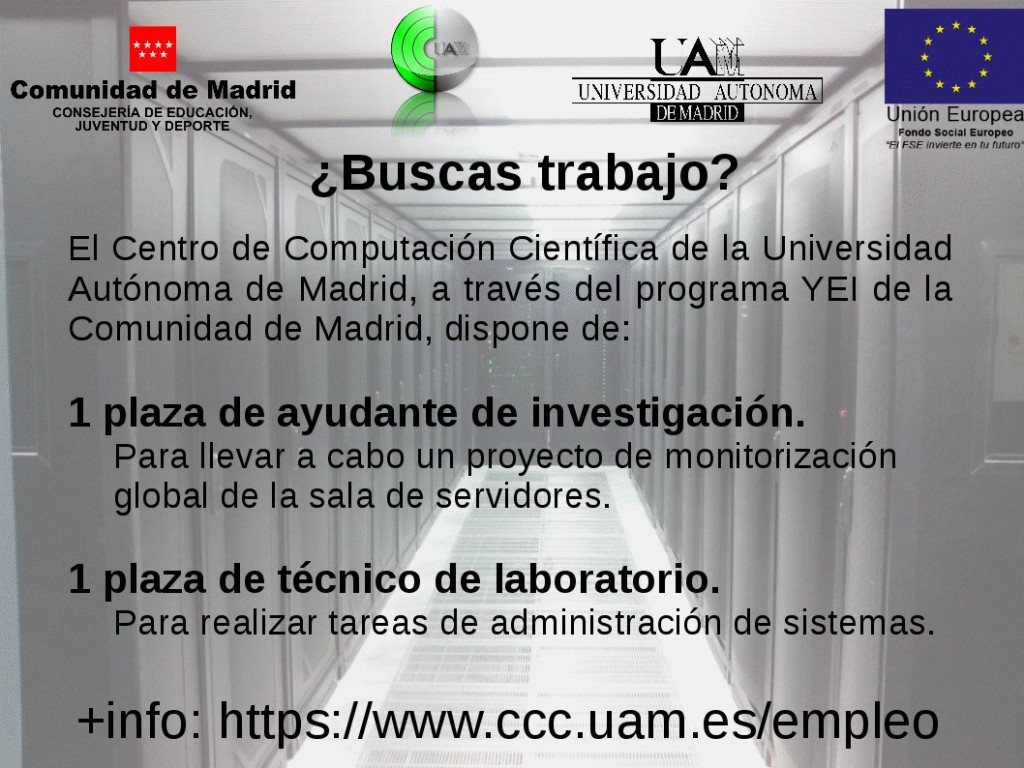 Empleo-HPC Systems Administrator at CCC-UAM
