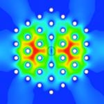 Campos electromagnéticos en cristal fotónico.